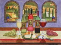 Wine And Drink - Wine In Tuscany - Watercolor