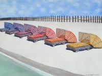 Florida Lifestyle - Cabana Lounges - Watercolor