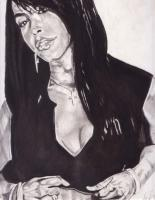 Portraits - Aaliyah Forever - Charcoal