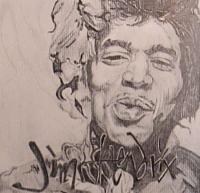 Portraits - Mr Hendrix - Pencil