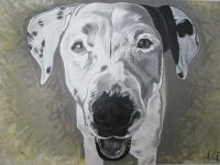 Gracie - Acrylic Paintings - By Kev R, Realism Painting Artist