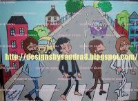 Beatles - Beatles Cartoon Abbey Road - Acrylic