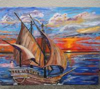 The Voyage - Acrylic Paintings - By Windie Guerrier, Abstracted Realism Painting Artist