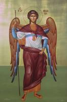 Stmichael - Egg Tempera Paintings - By Adamos Adamou, Byzantine Painting Artist