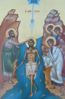 Icons - The Baptism - Egg Tempera