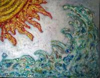Original Paintings - Sun N Sea - Mixed Media