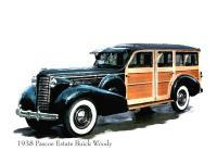 Cars - 1938 Buick Woody - Artists Giclee