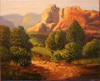 Landscape - Canyon - Western Us - Oil On Canvas