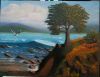 Seascape - Rocky Shore - Ocean Scene - Oil On Canvas