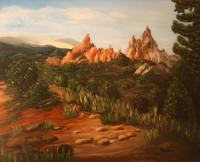 Landscape - Rocky Mountains - Colorado - Oil On Canvas