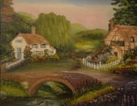 Landscape - Country Cottages - Oil On Canvas