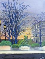 Easton Shopping Mall - Acrylic Paintings - By Kelly Spring, Impressionism Painting Artist