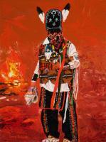 Matachines - December 24Th - Oil On Linen