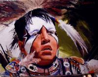 American Indian Portraits - Kansas Potowatome - Oil On Linen