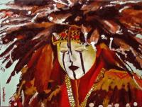 American Indian Portraits - Dog Soldier - Oil On Linen