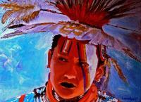 American Indian Portraits - Crow - Oil On Linen