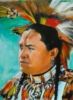 American Indian Portraits - Standing Rock - Oil On Linen