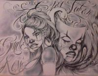 Tattoos 09 - Smile Now Cry Later - Pen  Paper