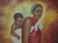 5 - Mother And Child - Oil On Canvas