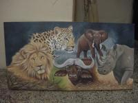 5 - African Big Five - Acrylic On Canvas