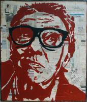 Pop Art - Brick Top 2 - Mixed On Wood
