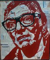 Pop Art - Brick Top 3 - Mixed On Wood
