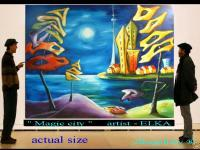 Magic Landscape - Magic Landscape - City By Elka - Acrylic On Canvas
