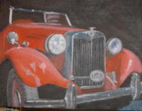 Vintage Cars - Found Treasure - Oil  Color Glazes