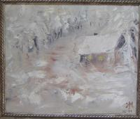 Landscape - Winter - Oil On Canvas