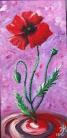 Sold - Dance Of The Poppy - Oil On Canvas