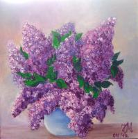 Private Collection - Lilac - Oil On Canvas
