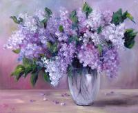 Still Life - Lilac - Oil On Canvas