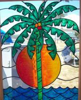 Tropics - Glass Overlay Glasswork - By Kim Miller, Casual Glasswork Artist