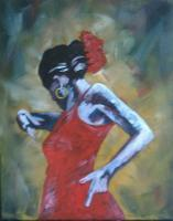 People - Flamenco Dancer - Oil On Canvas