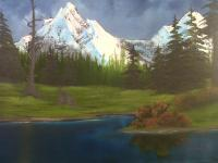 Lakes And Rivers - Peaceful Meadow - Oil On Canvas