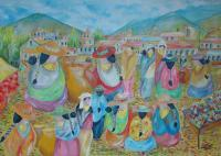 Painters Collection - Mercado Indigena - Oil