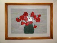 For Sale - Poppy Flowers - Leather