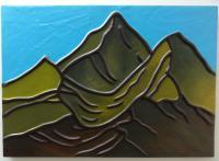 The Mountain - Leather Paintings - By Jeler Anita, Decorative Painting Artist