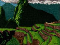 Incan Village - Sharpiebic Markers Drawings - By Mk Flood, Sharpiebic Art Drawing Artist