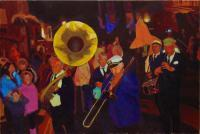 Old Glory Creole Jazz Band - Acrylic Paintings - By Tom Henderson Smith, Colourist Painting Artist