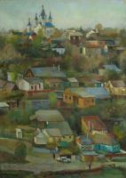 Author - Evening In Kamianets-Podilskiy St-George Church 2008 - Oil On Canvas