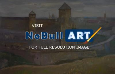 Author - Old Fortress In Kamianets-Podilskyi - Pope Tower 2008 - Oil On Canvas