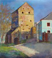 Author - Kamianets-Podilskiy The Stephen Bathory Gate 2008 - Oil On Canvas