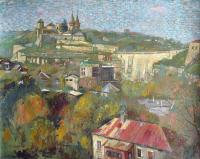 Author - Kamianets-Podilskiy Old Fortress 2008 - Oil On Canvas