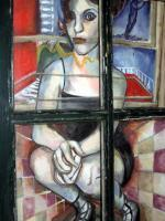 Expressions - Painted Into A Corner - Painting Framed With Window