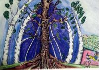 Illustrationcaricatures  Carto - Scene From Anja The Mighty Oak - Colored Pencil Marker And Pain