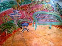 Illustrationcaricatures  Carto - Whimsical Florida Scene - Colored Pencil Marker And Pain