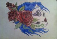 Color Drawings - Day Of The Dead Girl - Pencil And Paper