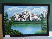 Snow Mountains - Acrylic Paintings - By Anoop Valamvayal, Nature Painting Artist