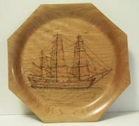 Pyrography - Sailling Ship - Wood